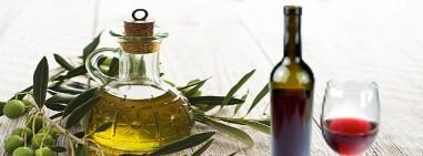 Olio d'oliva e vino